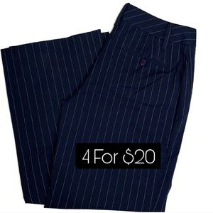 Cabi Trouser Pants Navy Blue Pinstriped Size 0